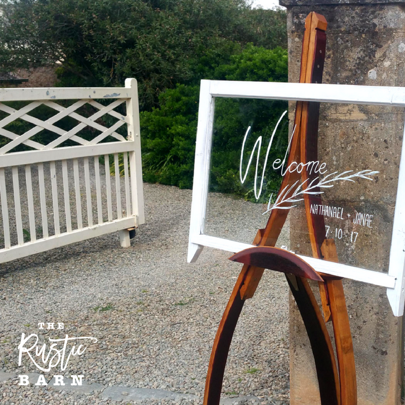 REAL WEDDING | The Rustic Barn Wine Barrel Easel at Bungaree Station, Clare.