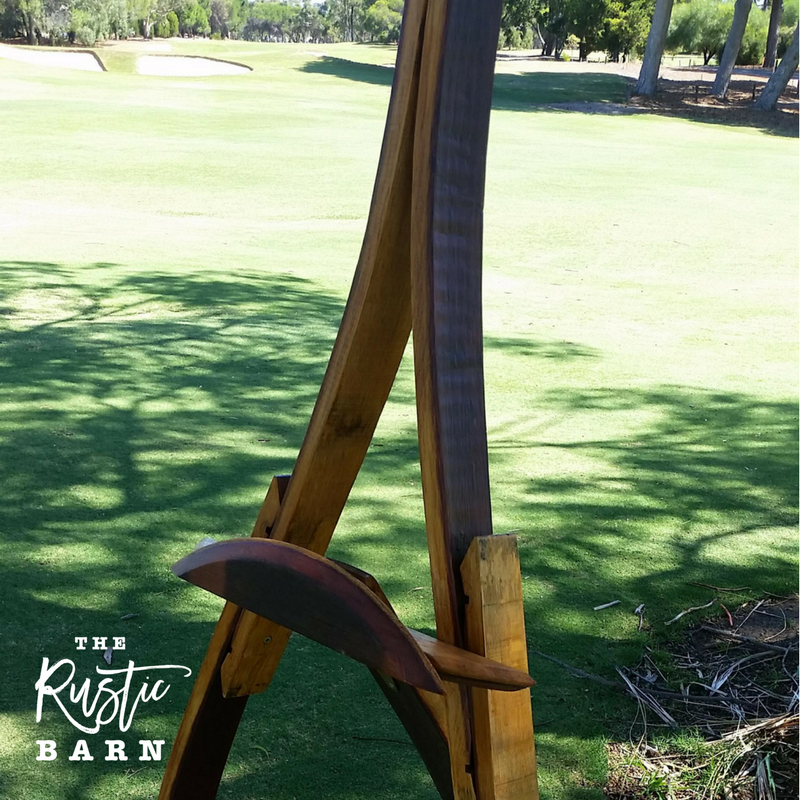 REAL WEDDING | The Rustic Barn Wine Barrel Easel at Grange Golf Club.