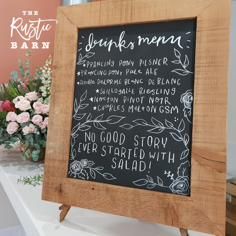 Reclaimed Oregon Chalkboard Hire