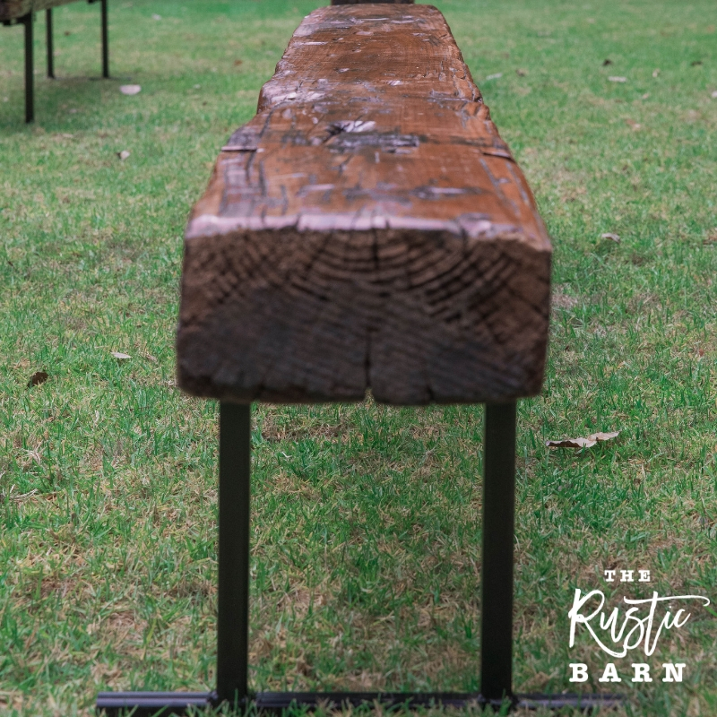 RECLAIMED | RESTORED | RE-PURPOSED  Old Railway Sleeper Wedding Bench Seating