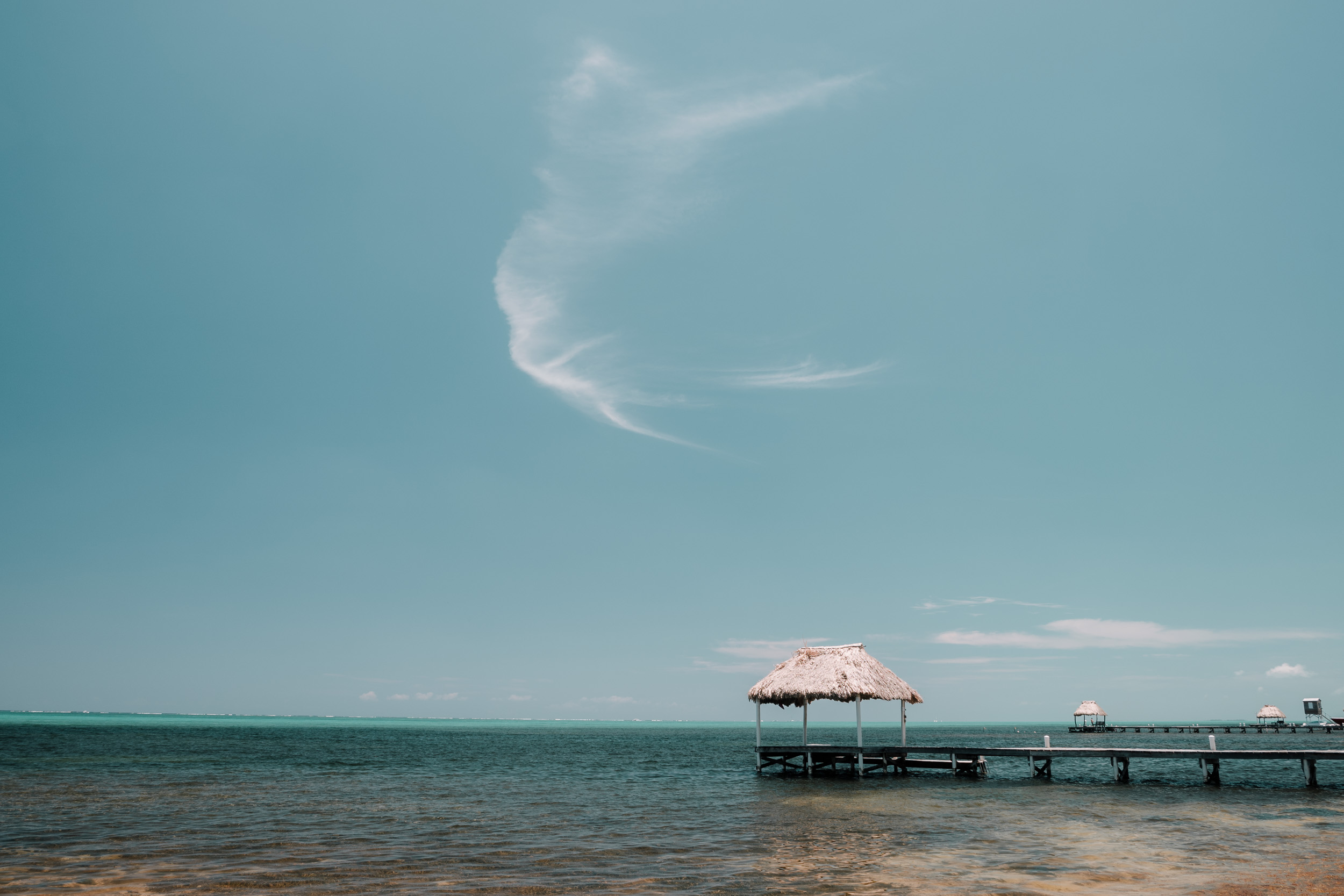 Pier on Caribbean