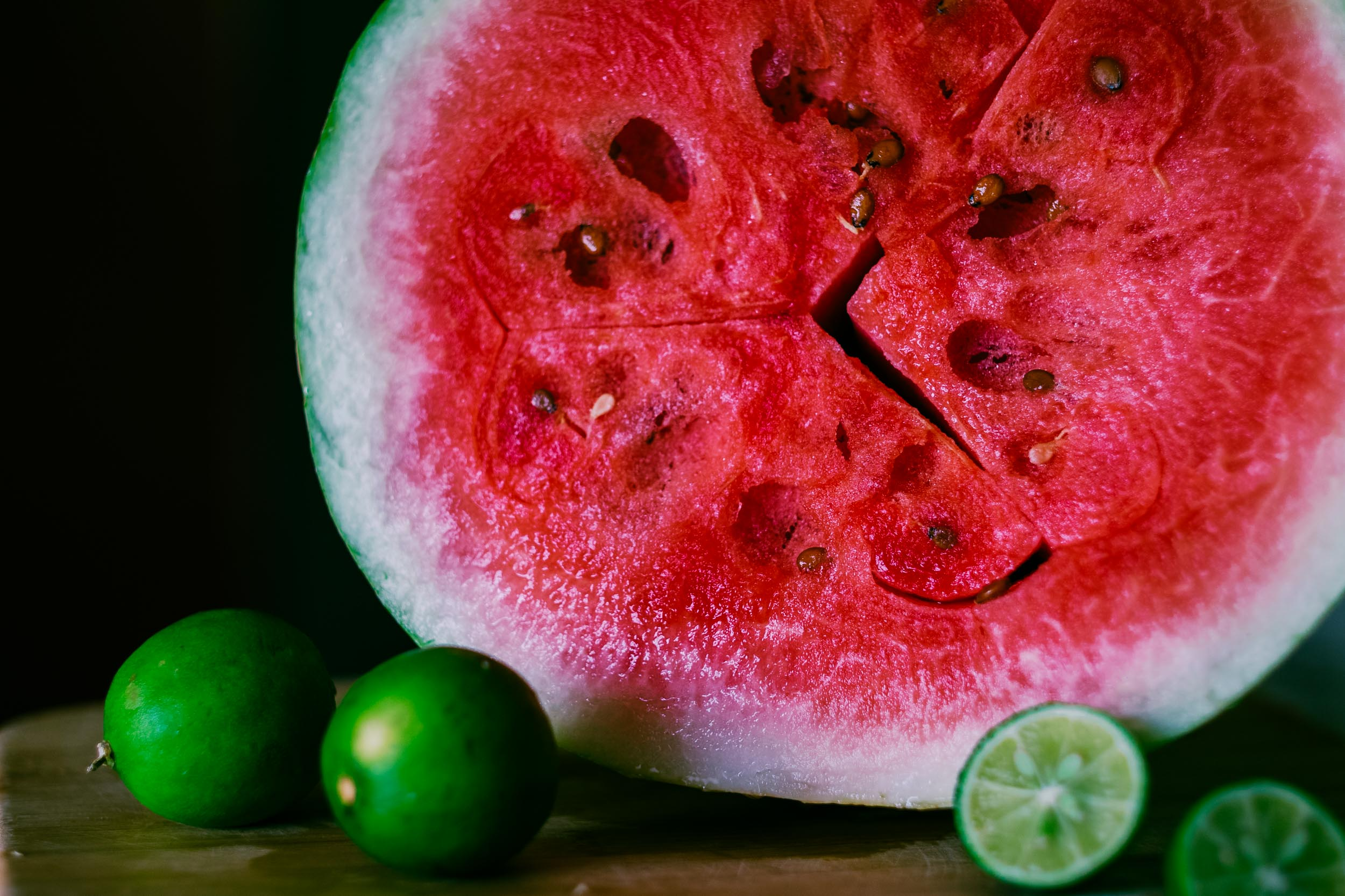 watermelon and limes