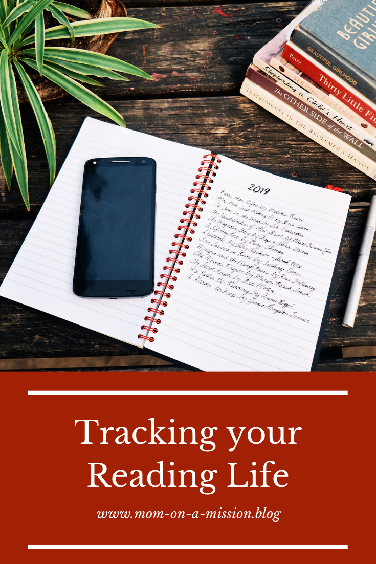 Whether you use a journal, an app such as OneNote, or a Word Document, tracking the books you read will help you get more out of your reading life.  #readinglife #booklist #momonamissionblog
