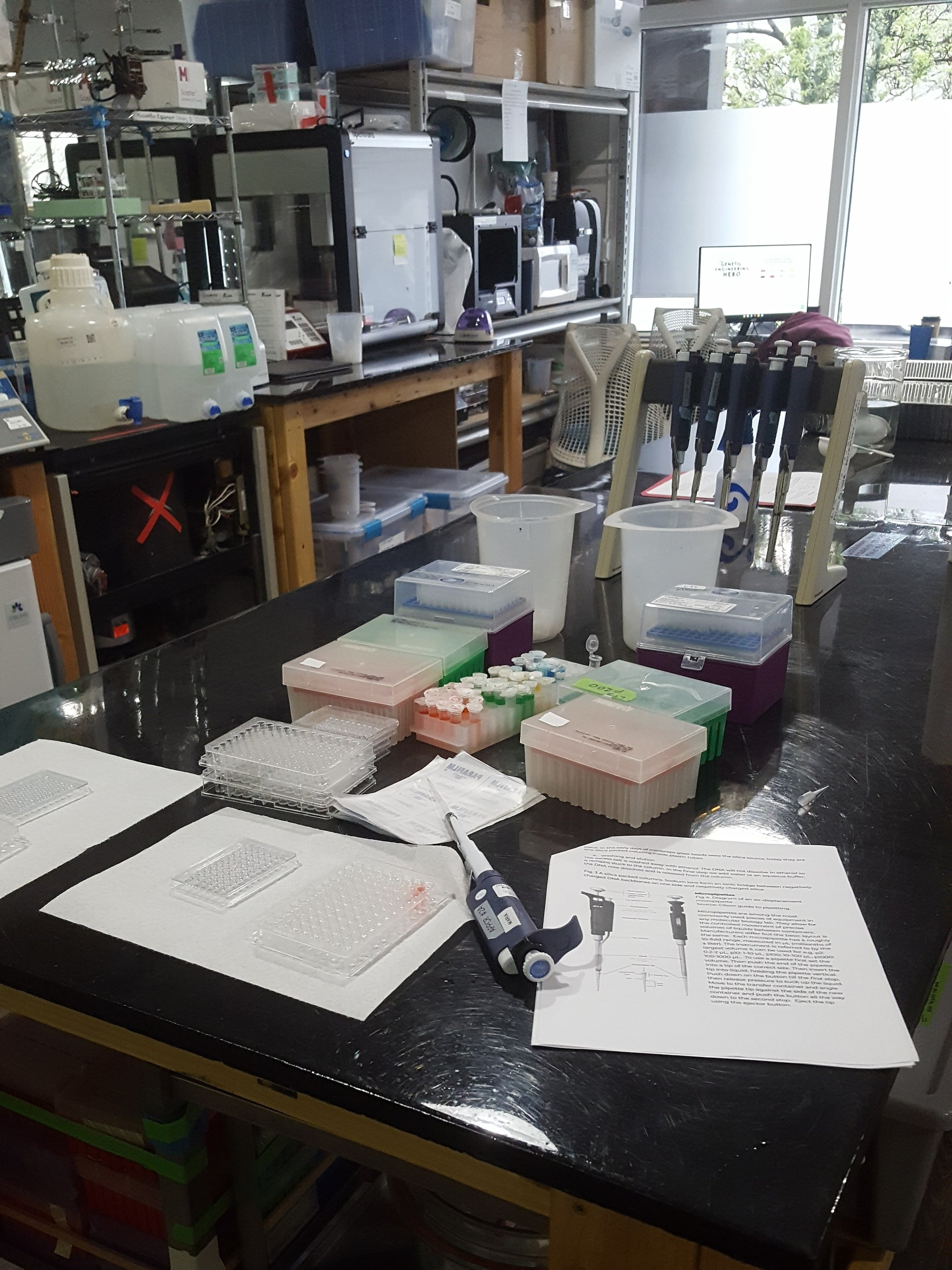 Our micro-pipetting station is always a hit.