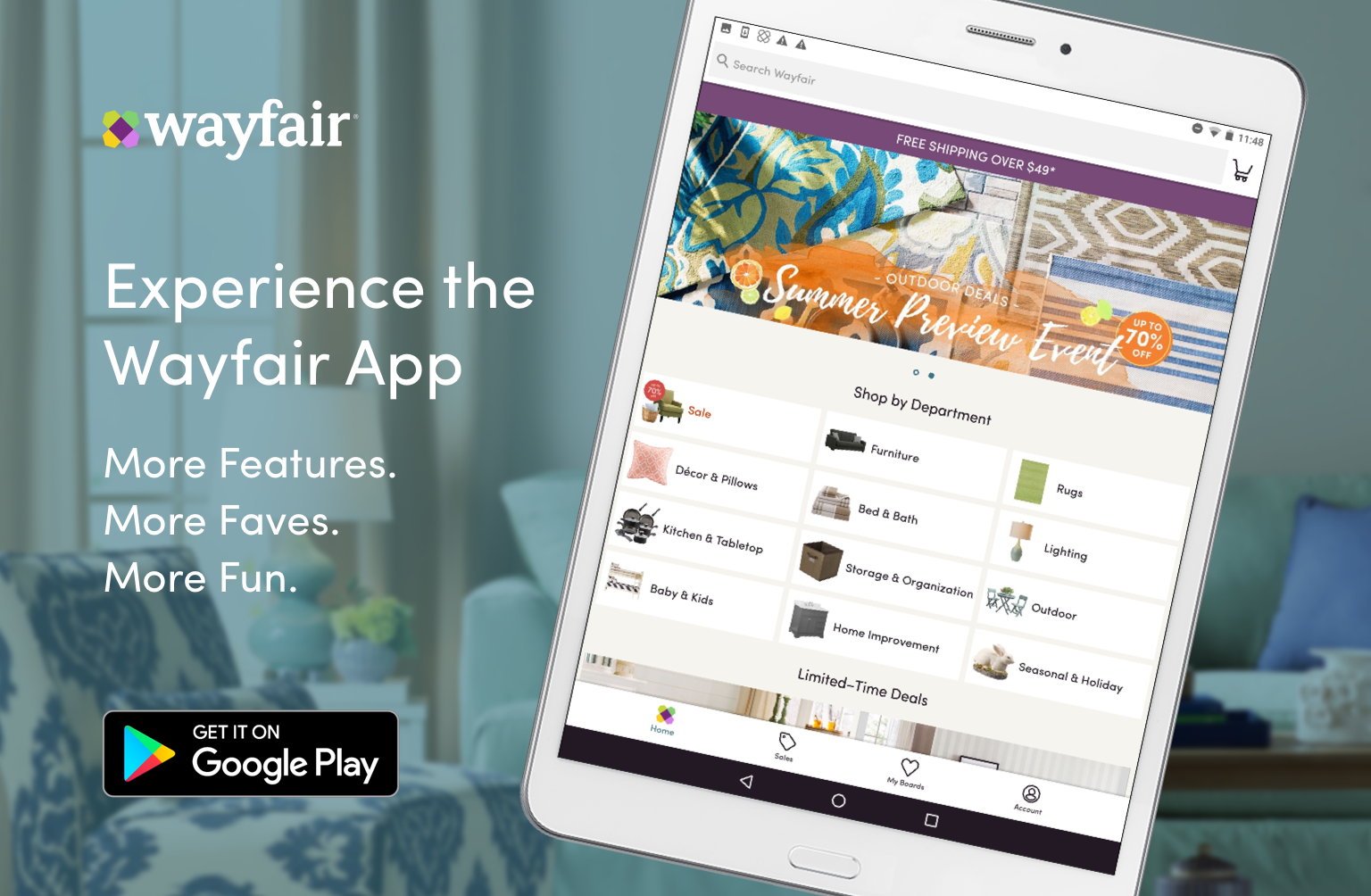 Tablet App Interstitial Banners