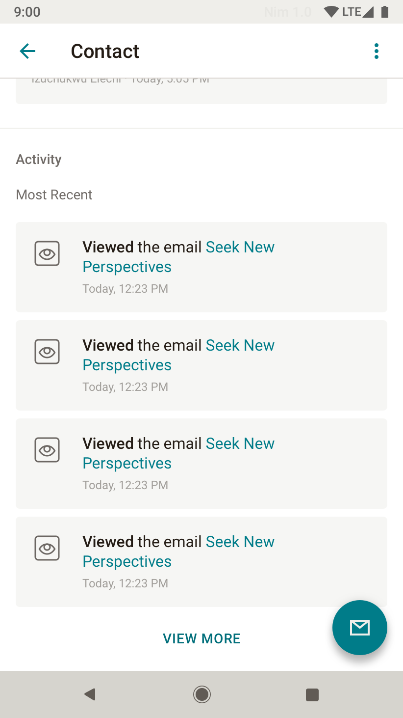 Users can view more nuanced activity, beyond just email campaigns.