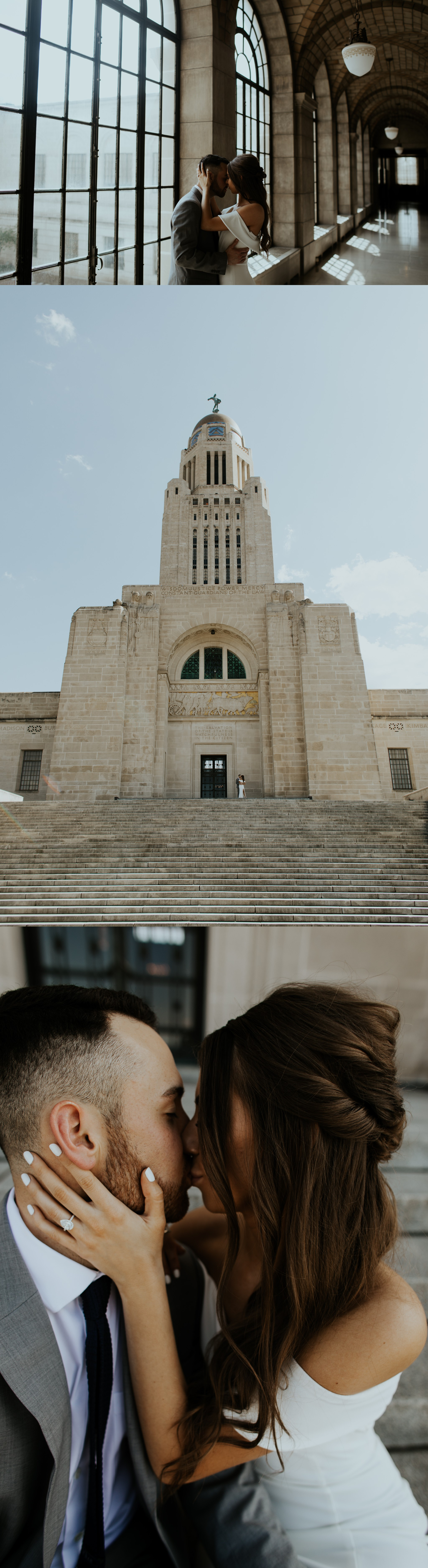 Spring Nebraska State Capitol Engagement Session - Gabby and Michael - Trin Jensen Photography_0002.jpg
