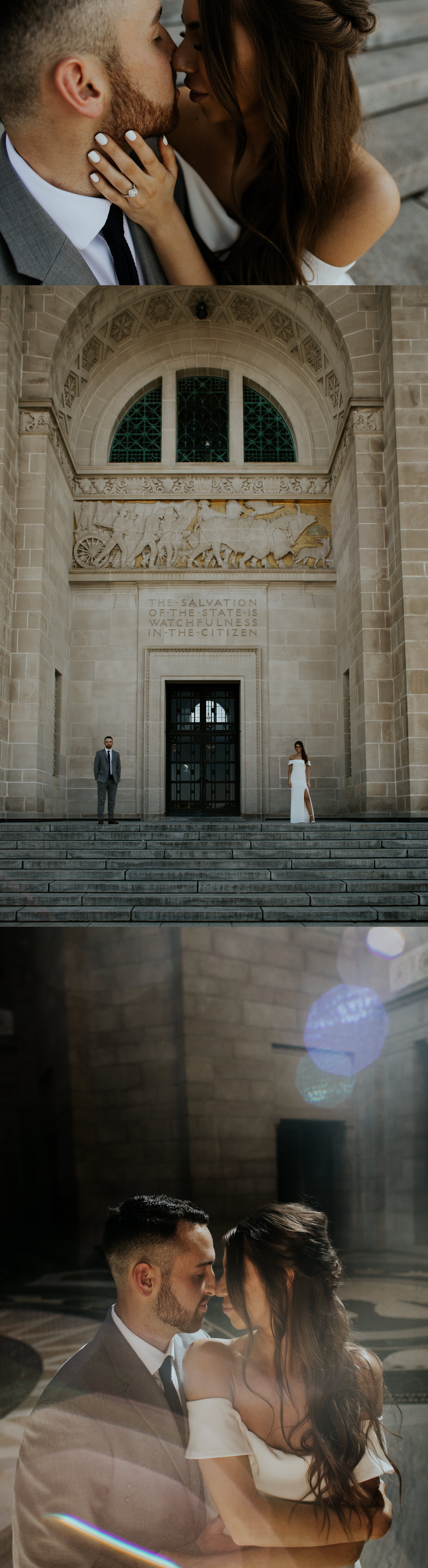 Spring Nebraska State Capitol Engagement Session - Gabby and Michael - Trin Jensen Photography_0004.jpg