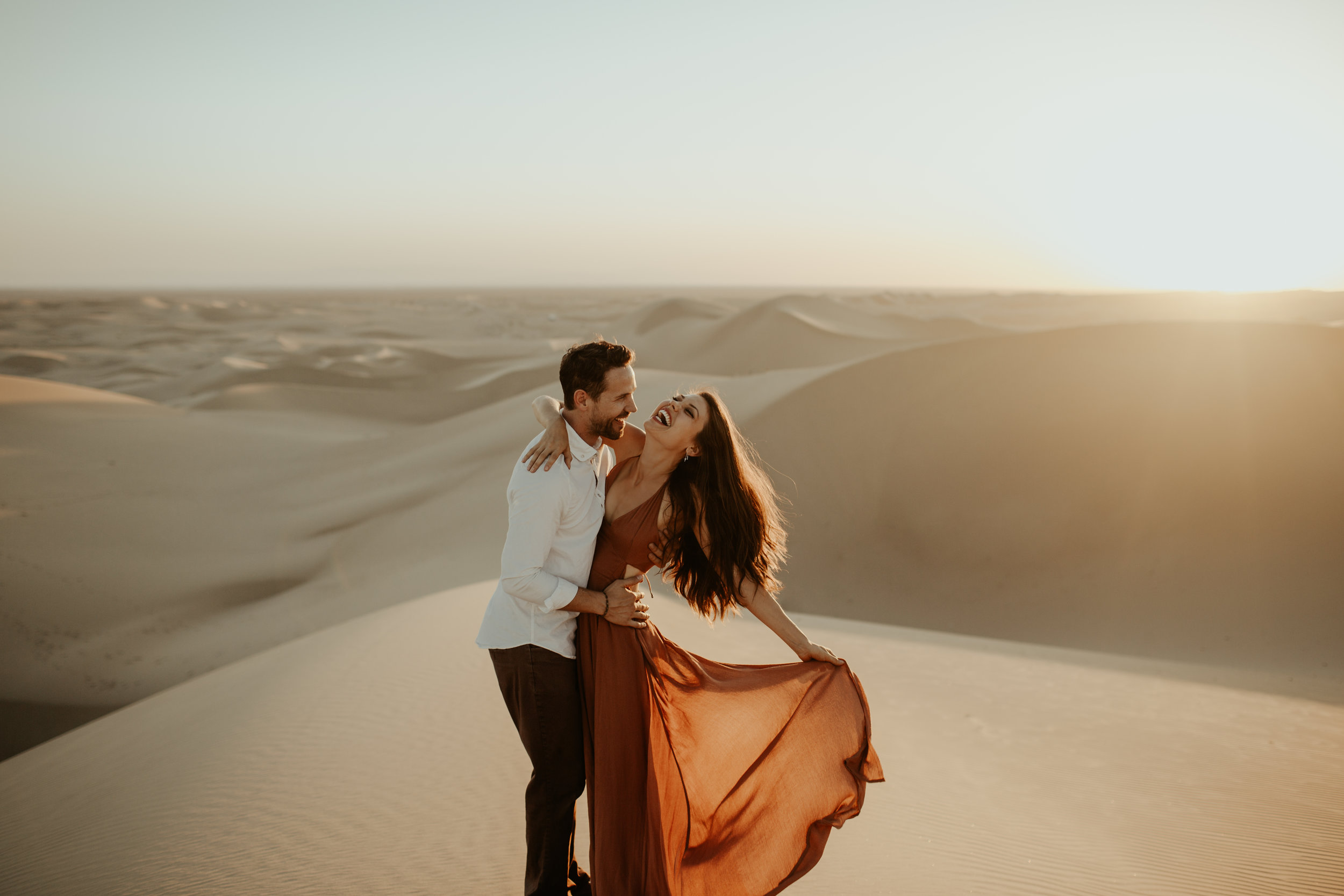 Britt from the Bachelor Engagement Session at the Imperial Sand Dunes in California