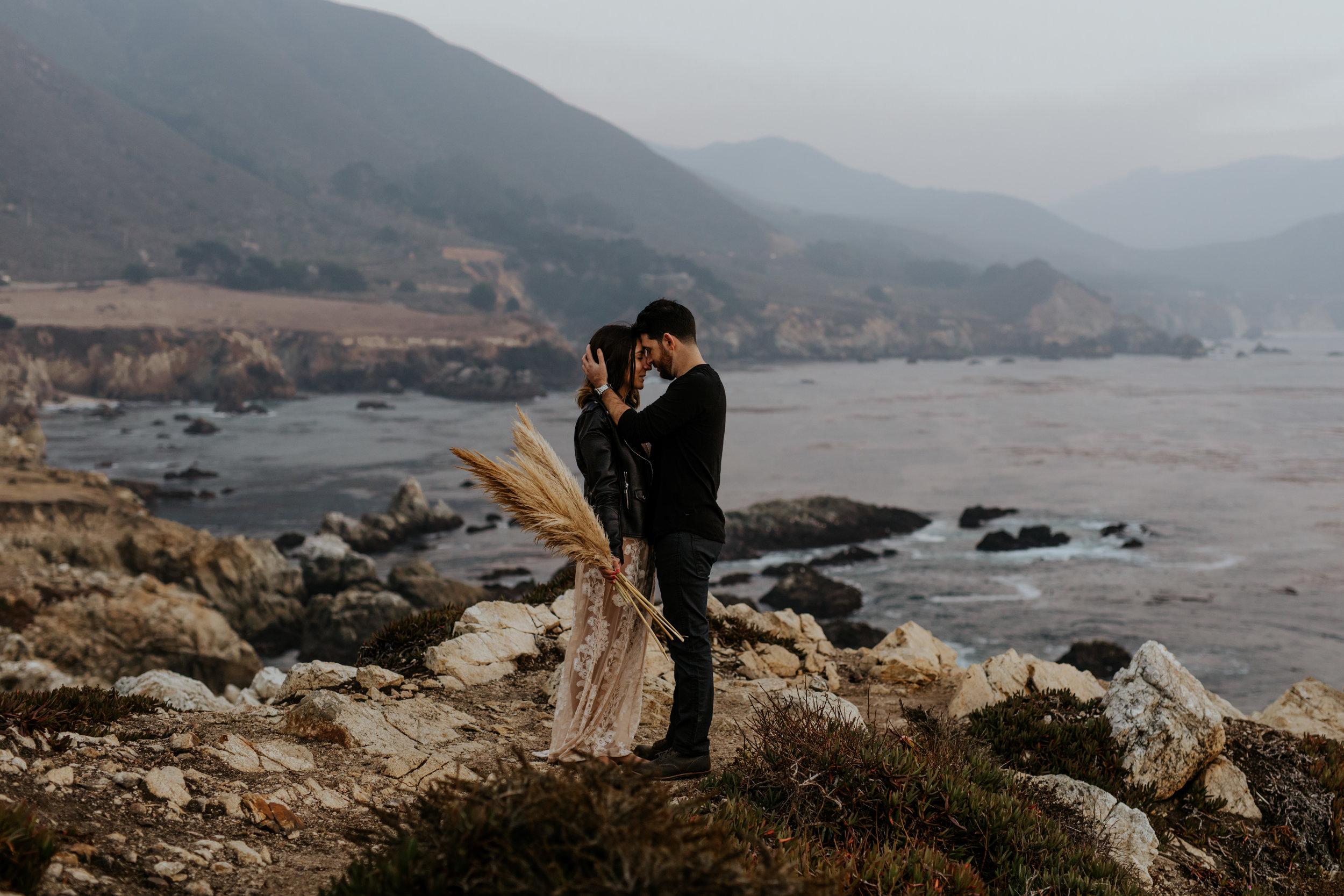 Bohemian Big Sur California Engagement Session  - Chad + Amanda - Trin Jensen Photography