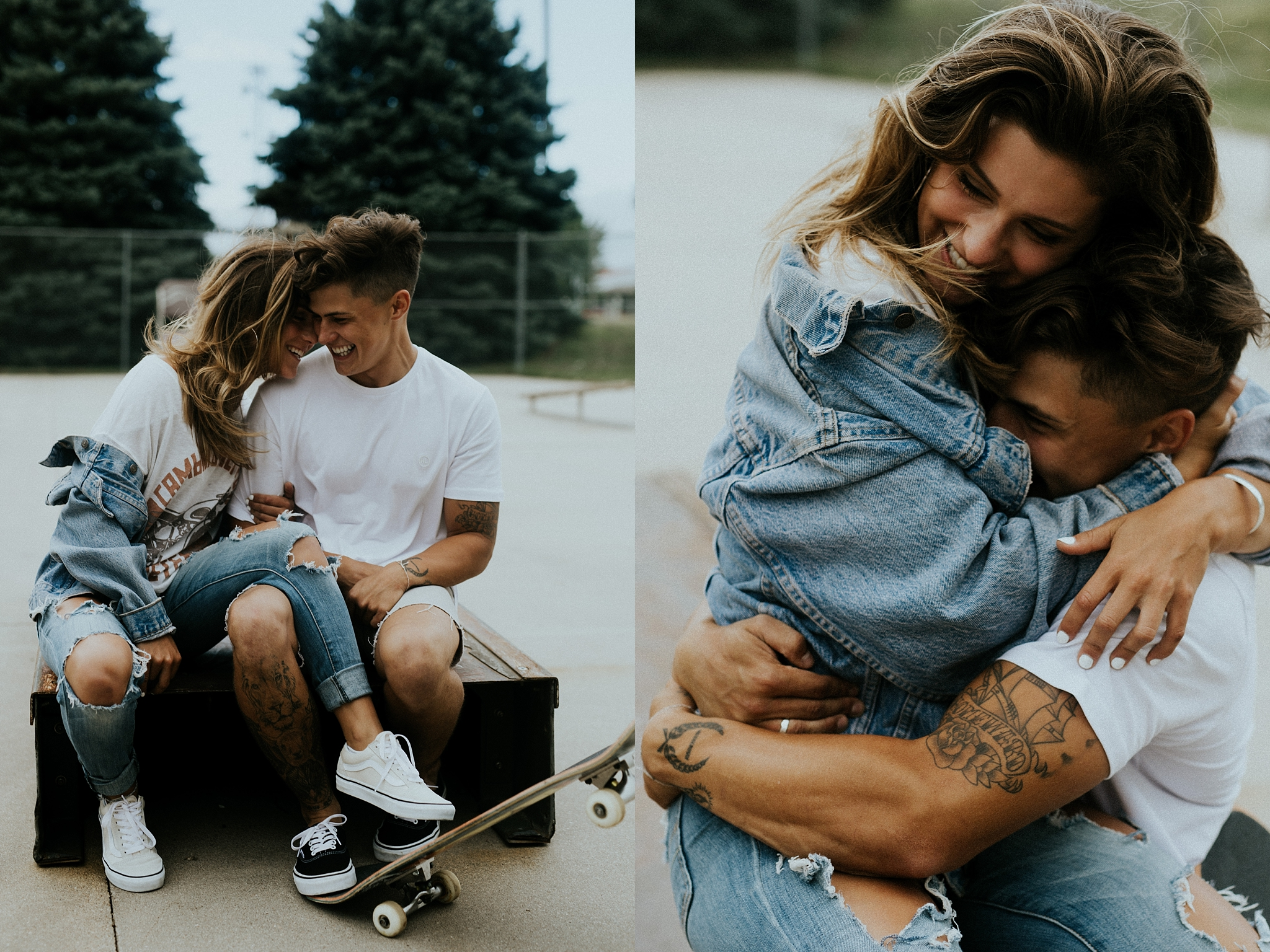 Linden + Sam  --  Casual Skatepark Couples Session  --  Trin Jensen Photography-1.jpg