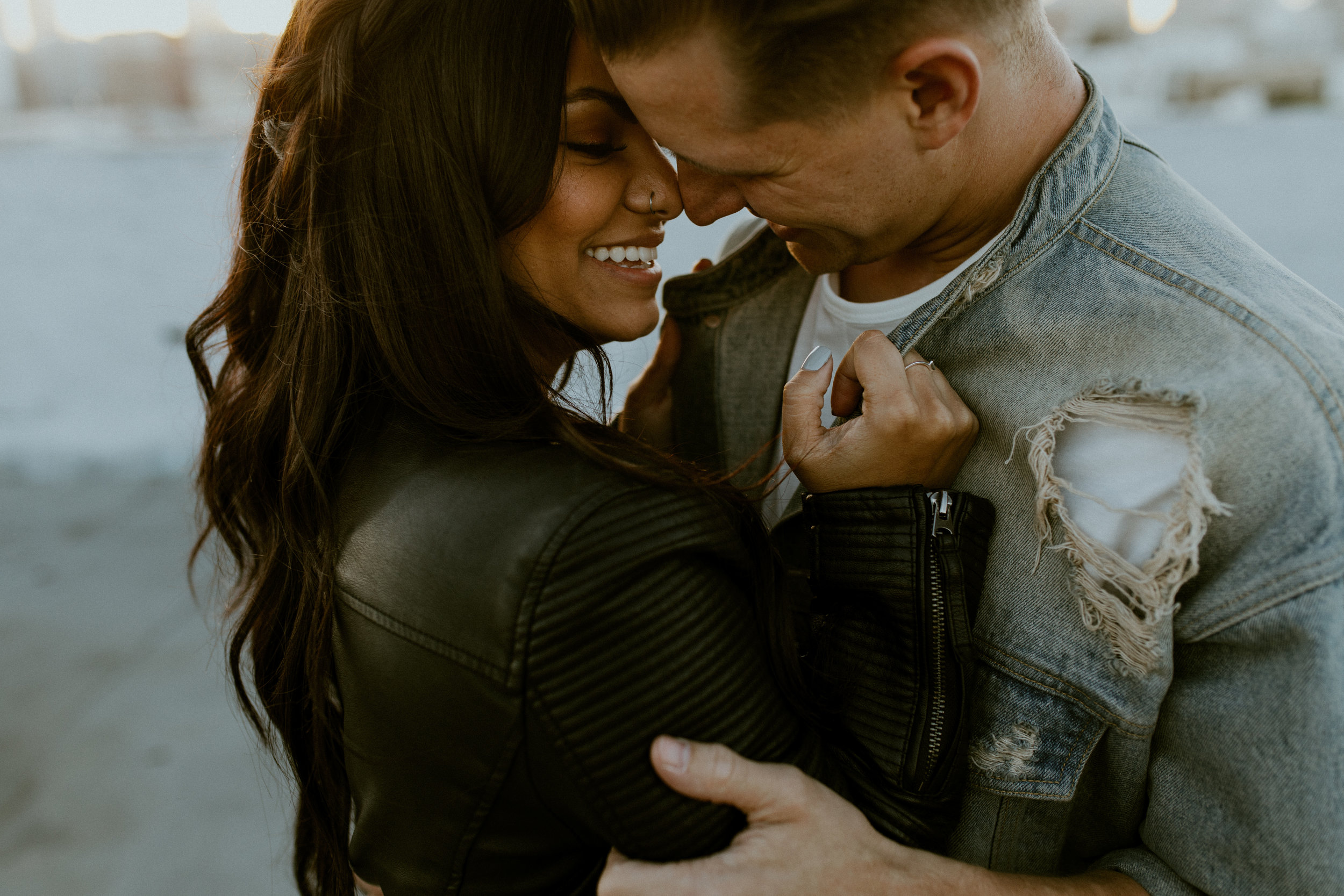 DTLA Rooftop Couples Session  //  Los Angeles Wedding Photographer