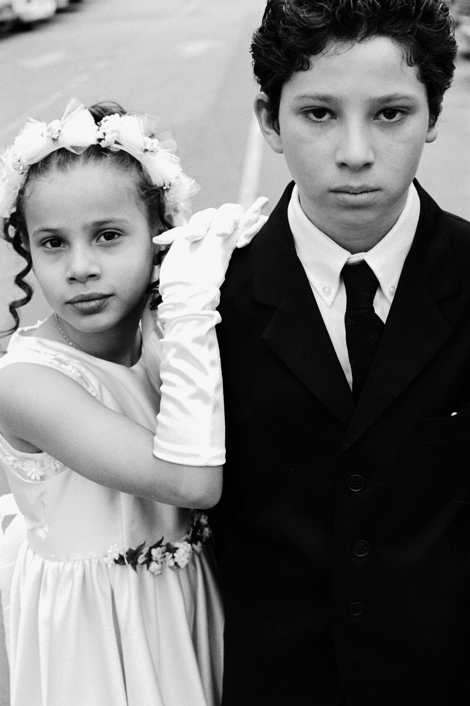 MEXICAN WEDDING ON BROADWAY [ LOS ANGELES CA ] SHOT WAS TAKEN ON KODAK TRI-X-PAN FILM BEAUTYFUL!!