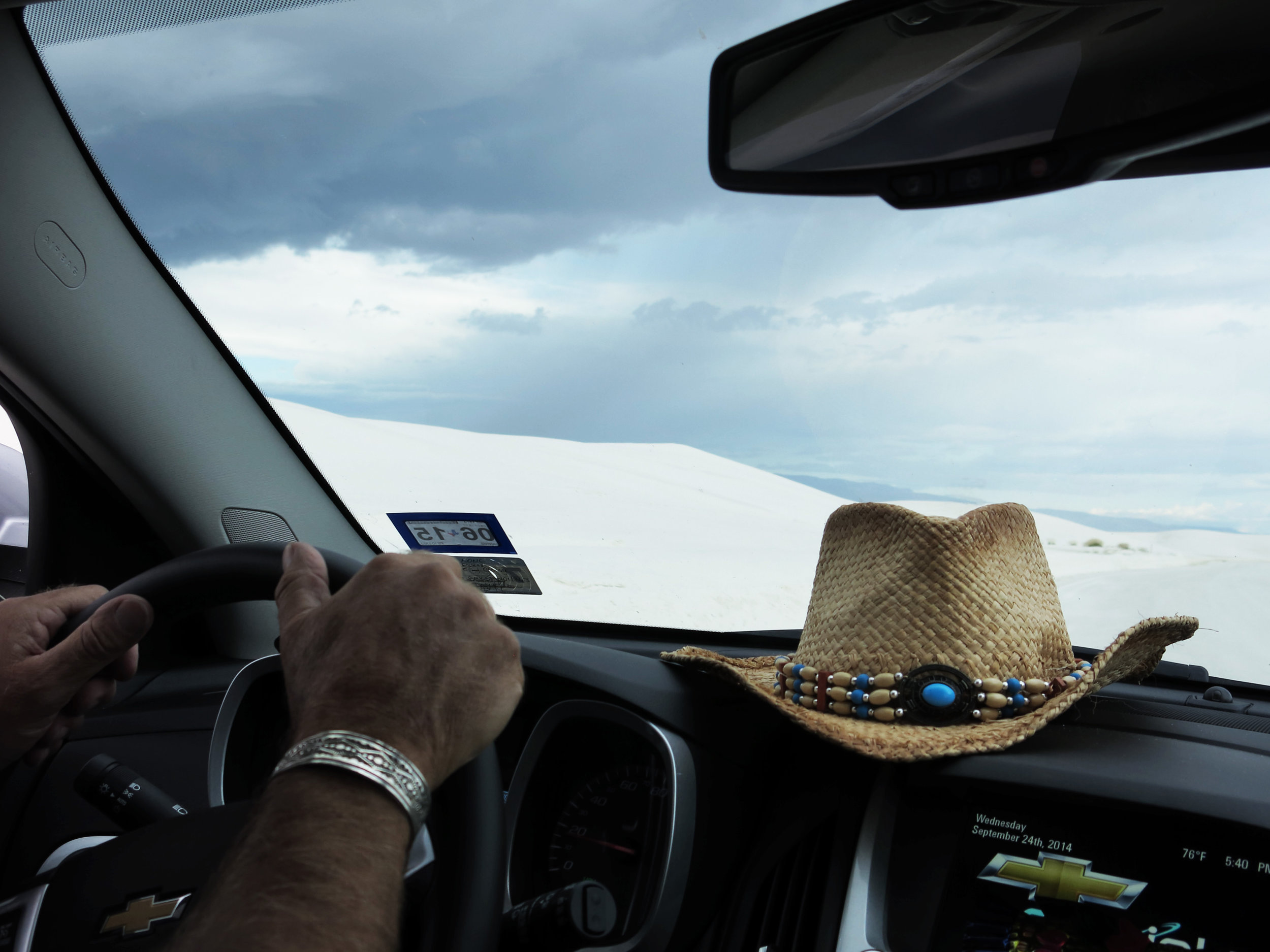 DRIVING THROUGH MY OWN DREAMS!! WHITE SANDS NAT. MONUMENT [NM] 24 SEPT 2014