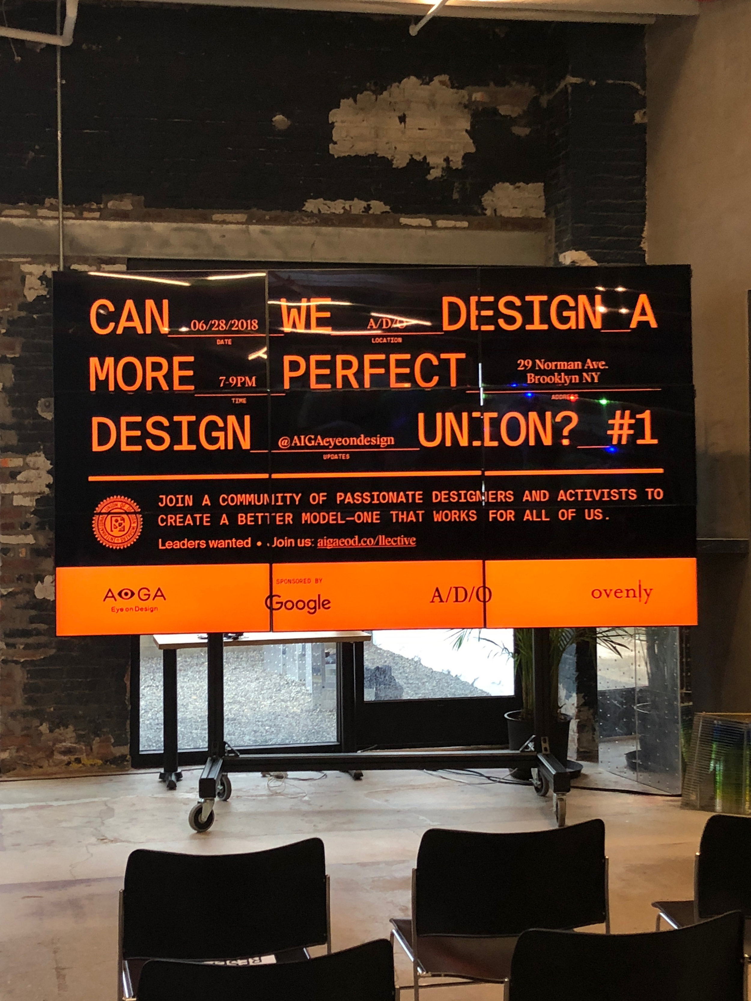Graphics for  Can we Design a More Successful Design Union?  an event organised by  AIGA Eye on Design  on June 28, 2018. Stamp illustration by  Erik Carter .