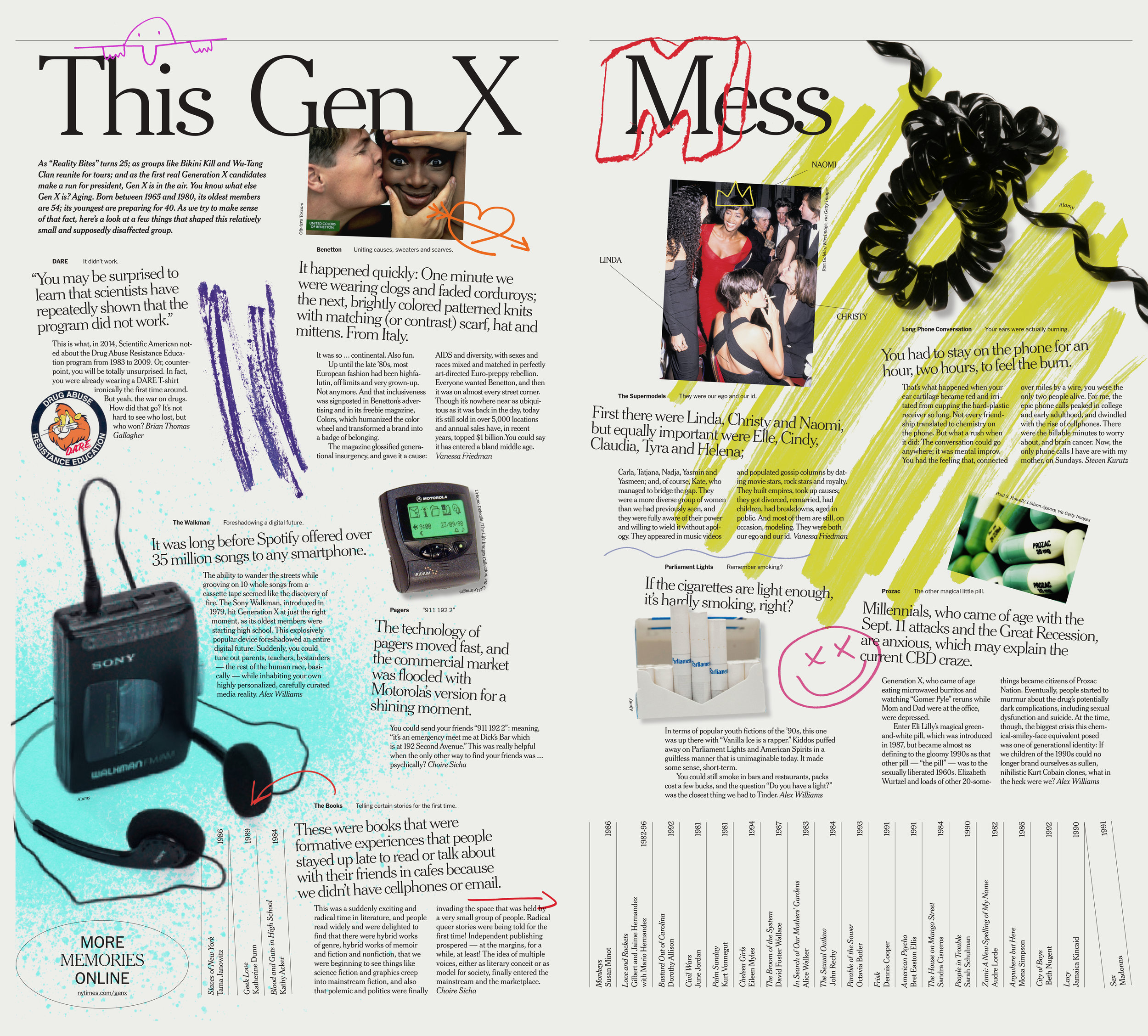 Glimpse of the  NYT Styles Gen X package  in the newspaper
