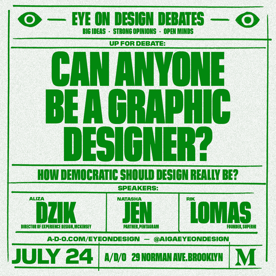 Visual identity for AIGA Eye on Design's debate event - more info  here