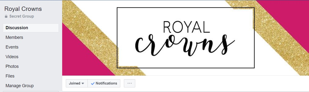 Royal Crowns  is ran by  Leah Friedman . She is a Platinum leader in our upline. She runs contests for her entire team there, shares inspiration and keeps us up to date on info from Young Living. If you want to join ask your enroller to add you in.