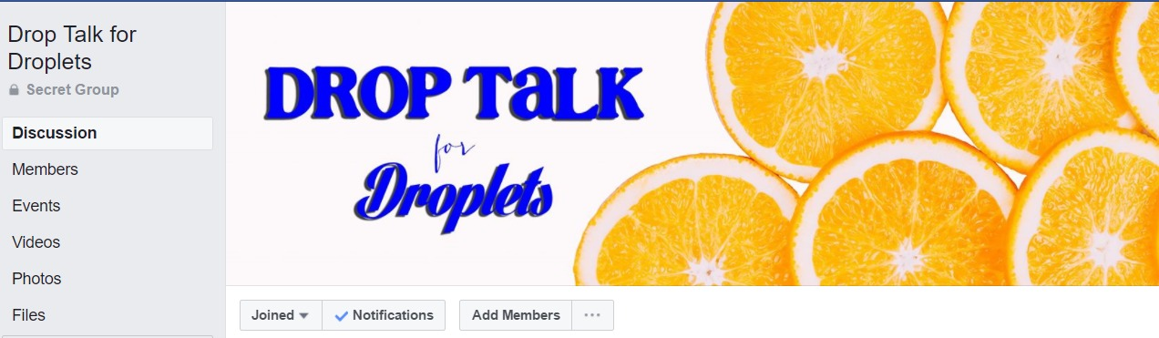 Drop Talk For Droplets  was created by Dawn Hampton as a place for business people to ask oil usage questions. Sometimes our members have questions we don't have any experience with so what better place to ask than a group full of oil bosses?