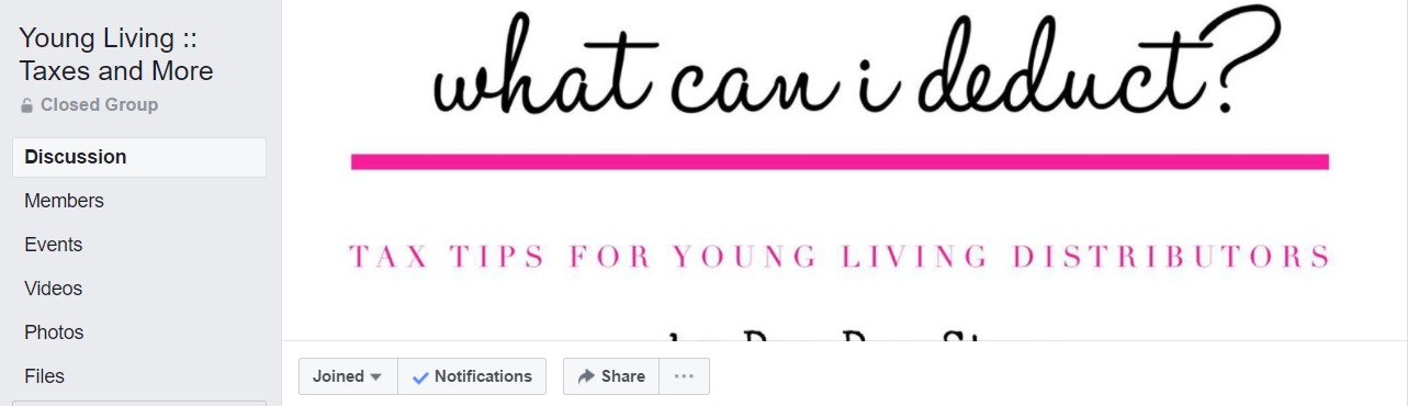 Young Living :: Taxes and More  has all the info about properly filing taxes. You can ask questions and make sure you are getting in all of your deductions.