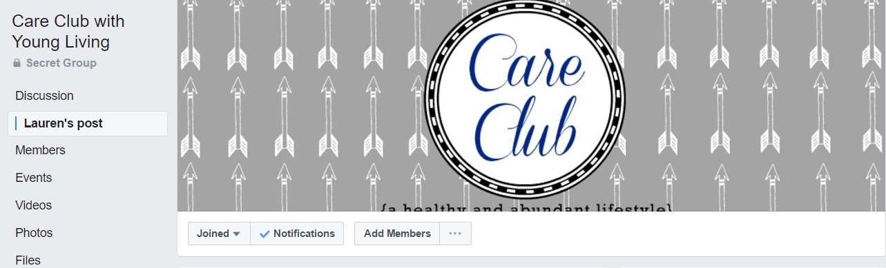 """This is another Secret Group so you would have to be added by a fellow oiler or your enroller. This group has printables for free that you can use to send samples to members of your downline.  From the pinned post:  """"The idea of the Care Club is to share samples of Young Living oils / products with your personal enrollments and or members of your choosing in your organization for three consecutive months.  How do you choose members to be a part of Care Club? Below are some options you may consider...  1. Personal enrollments (NEW or OLD) 2. Members who have not ordered since they signed up  3. Members who have not ordered in 6 months 4. Members who are not on Essential Rewards  5. Members in a leg that needs help supporting  6. Members about to go inactive  How does this work? -For THREE months, choose 3-5 members (or whatever number of your choosing) who you want to send a couple of samples to. It is great to do this with NEW members to show them the value of Essential Rewards. We recommend not sending DIY projects, but sticking to only Young Living oils and products. However, feel free to include a DIY recipe with the package if you like.  Relationship building and communication are HUGE with Care Club. Follow up with your members and start watering that seed you planted."""""""