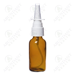These 1 oz. amber glass bottles come with convenient nasal spray pump tops and clear plastic hoods. Perfect for creating your own nasal sprays that incorporate essential oil