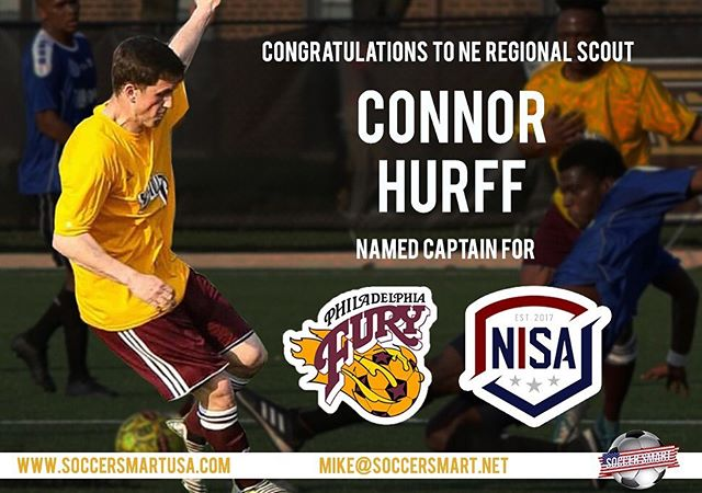 """💥💥🎉Congratulations 🎉to Northeast Regional Scout @connorhurff as he signs his first PRO contract in the US as well as named CAPTAIN! 💯💥💥 """"Soccer Smart USA has a vision to help bring culture back into American soccer. I'm excited for this opportunity here in the US as well as helping players continue their career abroad at higher levels as the Northeast scout. It's important to not miss a season because with the growth in the US going on now, there will be more opportunity than ever."""" #playabroad #australiasoccer #soccerinspain #soccerinaustralia #path2pro  #prosoccer #nisa #nisasoccer"""