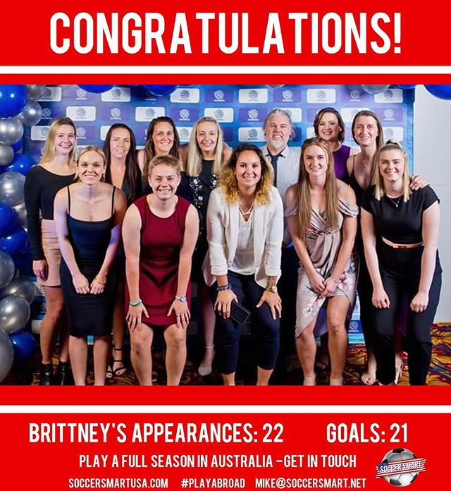 💥💥MASSIVE💥💥 job well done by #Smartplayer @brittneylacek reigning from St. Mary's University in San Antonio! Brittany is the second player from St. Mary's University in San Antonio to do well abroad along with #Smartplayer @allsaucenonoodles  Brittney went on to win 🏆TEAM OF THE YEAR🏆in the Brisbane Premier League! 💯Only 11 players from across the league are chosen. HUGE accomplishment!🙌⚽️💁♀️ These moves are what separates players one level to the next!  #womenabroad #PlayAbroad #soccersmartwomen #girlpower