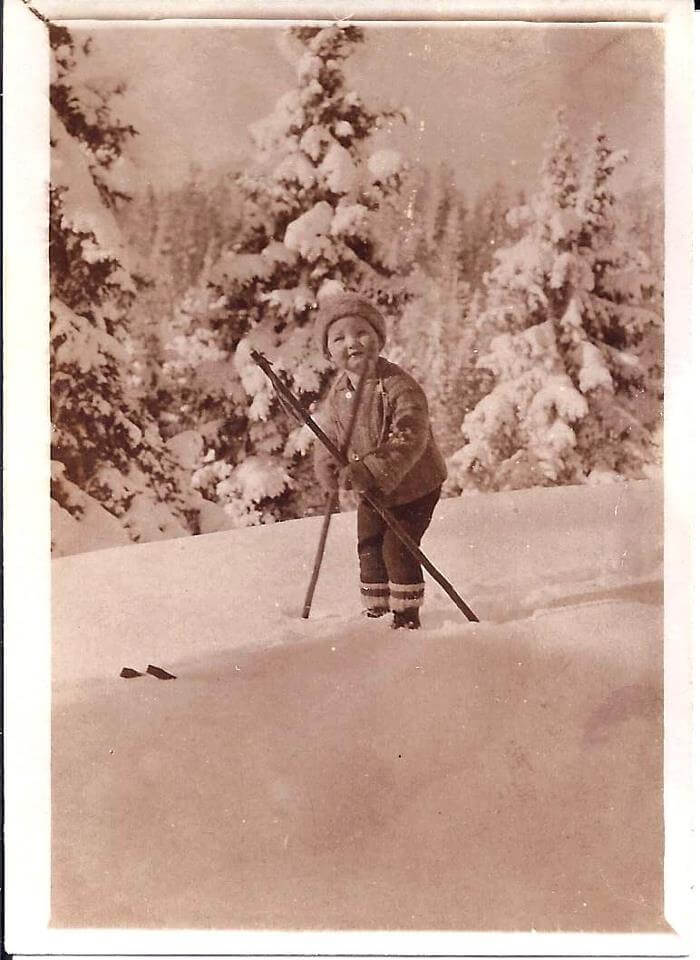 Franz Zaubek in winter of 1932