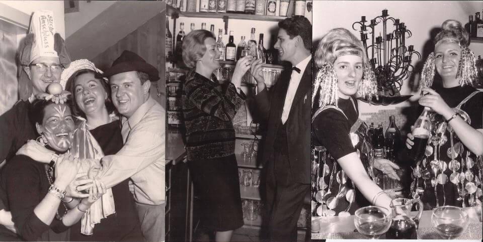 Die 50iger und 60iger Jahre waren eine lebensfrohe Zeit und im Haus Zaubek wurde viel gefeiert.
