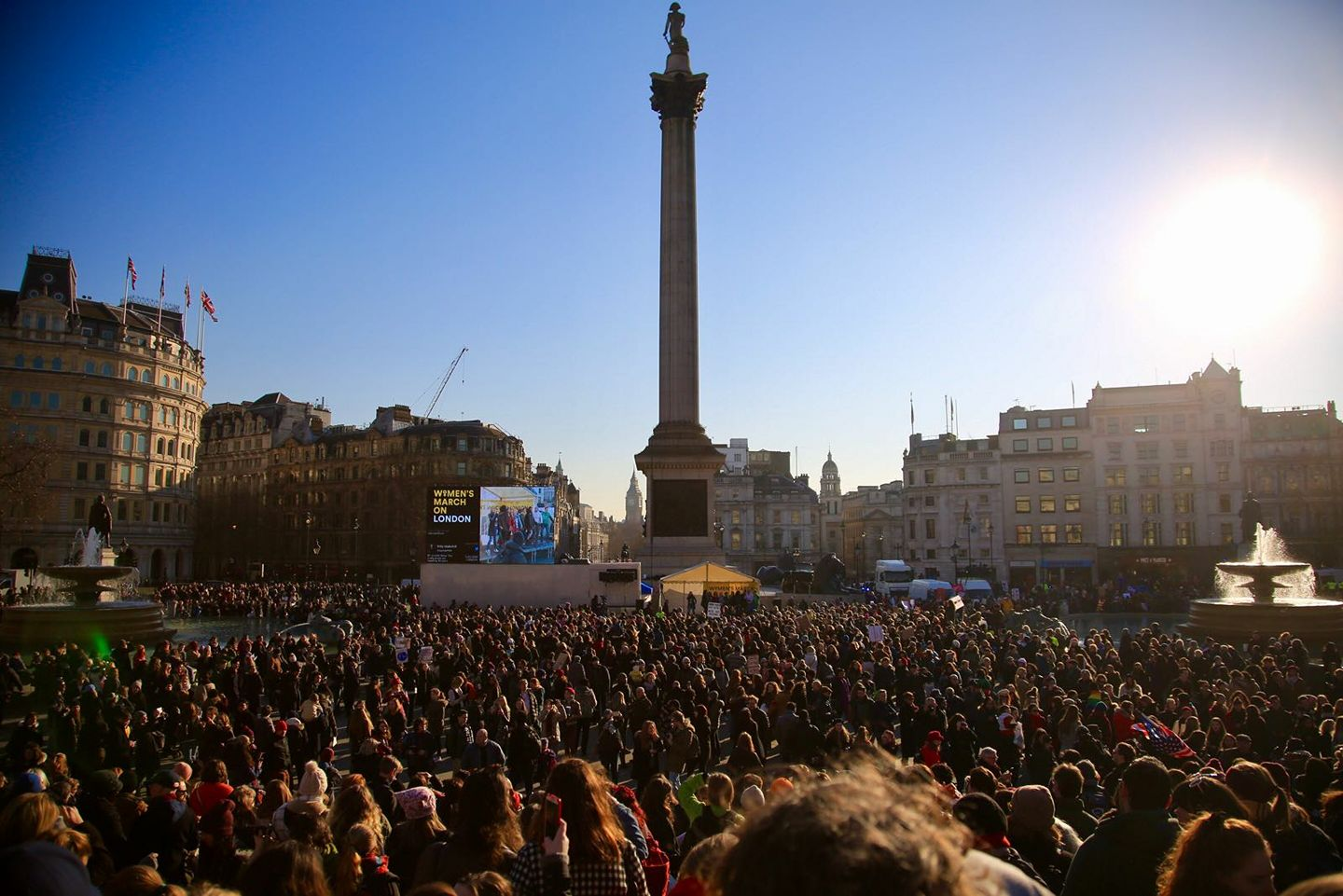 Women's March on London, Trafalgar Square, 21.01.17
