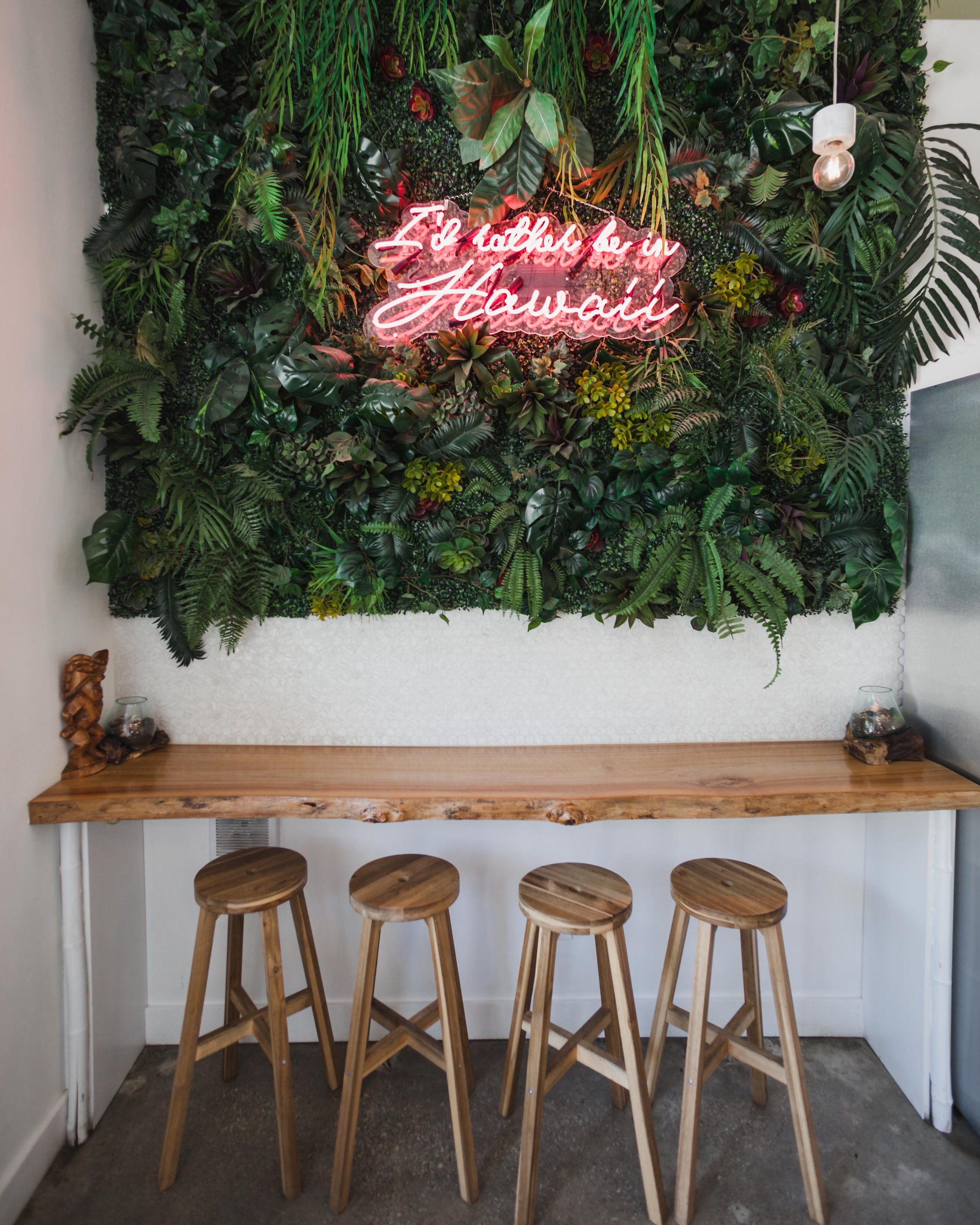 The Hawaiian-inspired decor within their 700 King St. W. location.