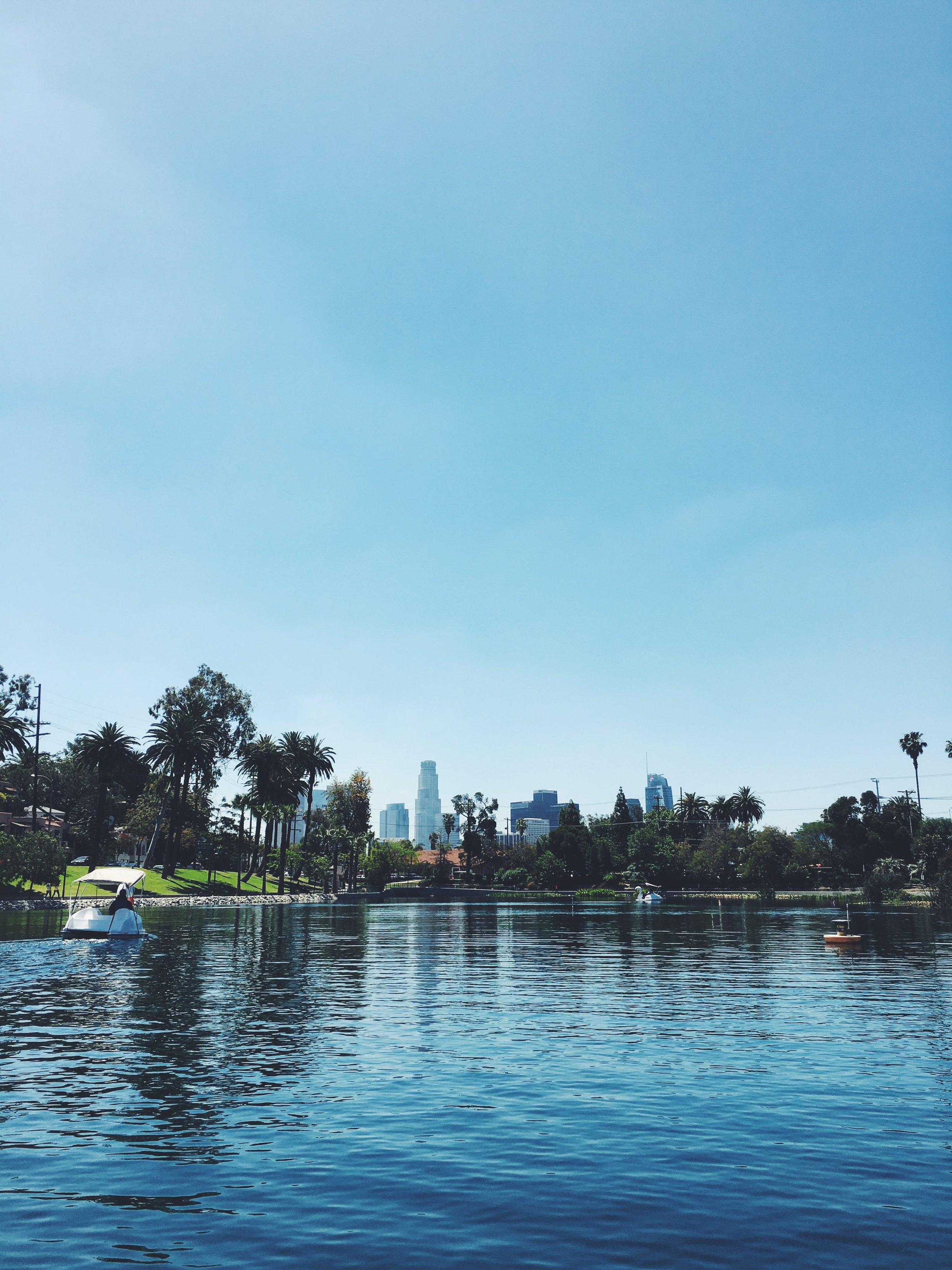 Echo Park Lake Downtown Views.JPG