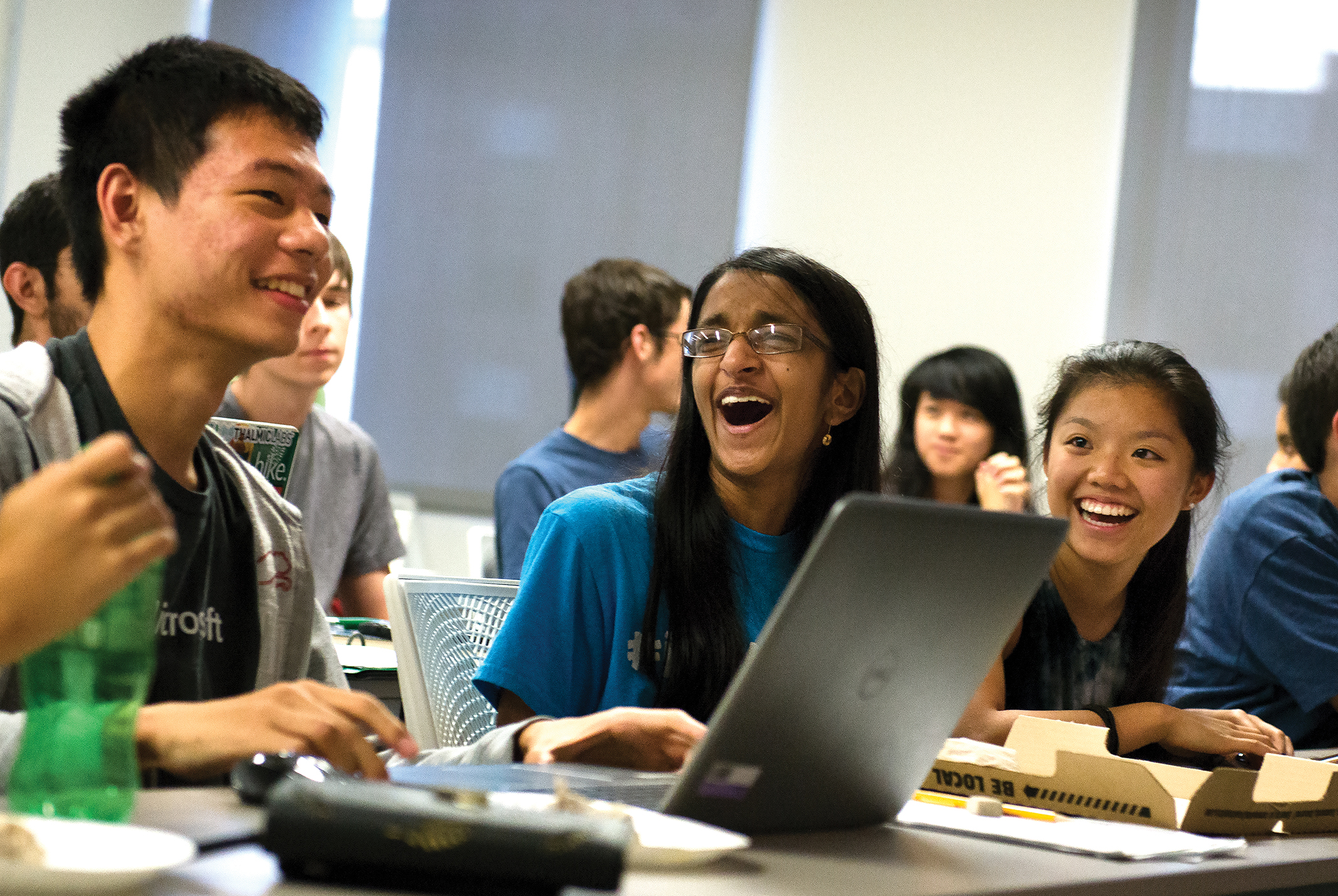 Students in Professor Calvin Lin's classes learn programming skills using digital 'critters' that compete against one another in a simulated environment.