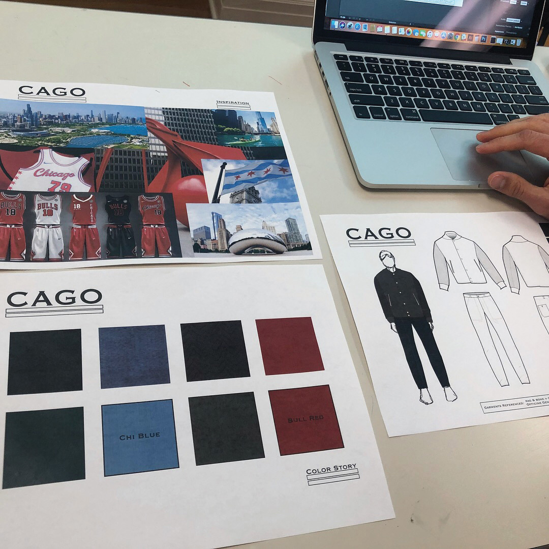 TXA students learning advanced computer aided drafting over the summer so they can produce materials like these artistic flats for fashion brands.