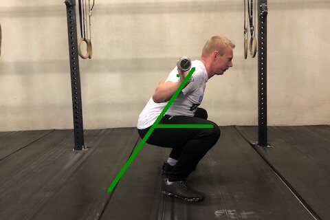 Low Bar Back Squat - highest amount op Hip bending