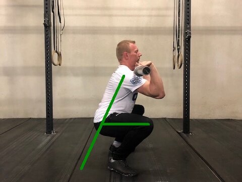 Front Squat, a good place to start when regressing from the back squat