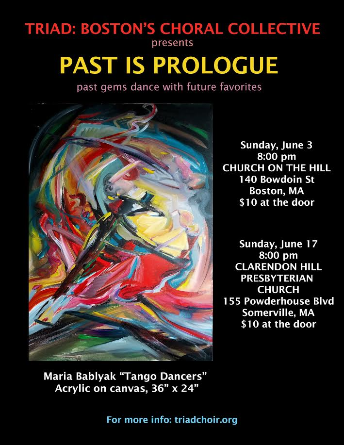 Our concert poster and program cover featuring artwork by the fantastic Maria Bablyak.
