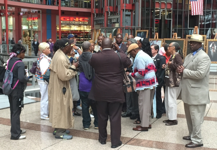 Howard Morgan supporters gather after his bid for a pardon.