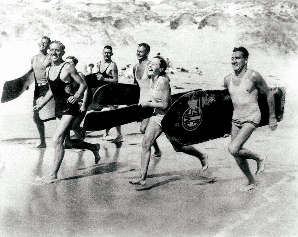 Vintage Black & White Beach Prints