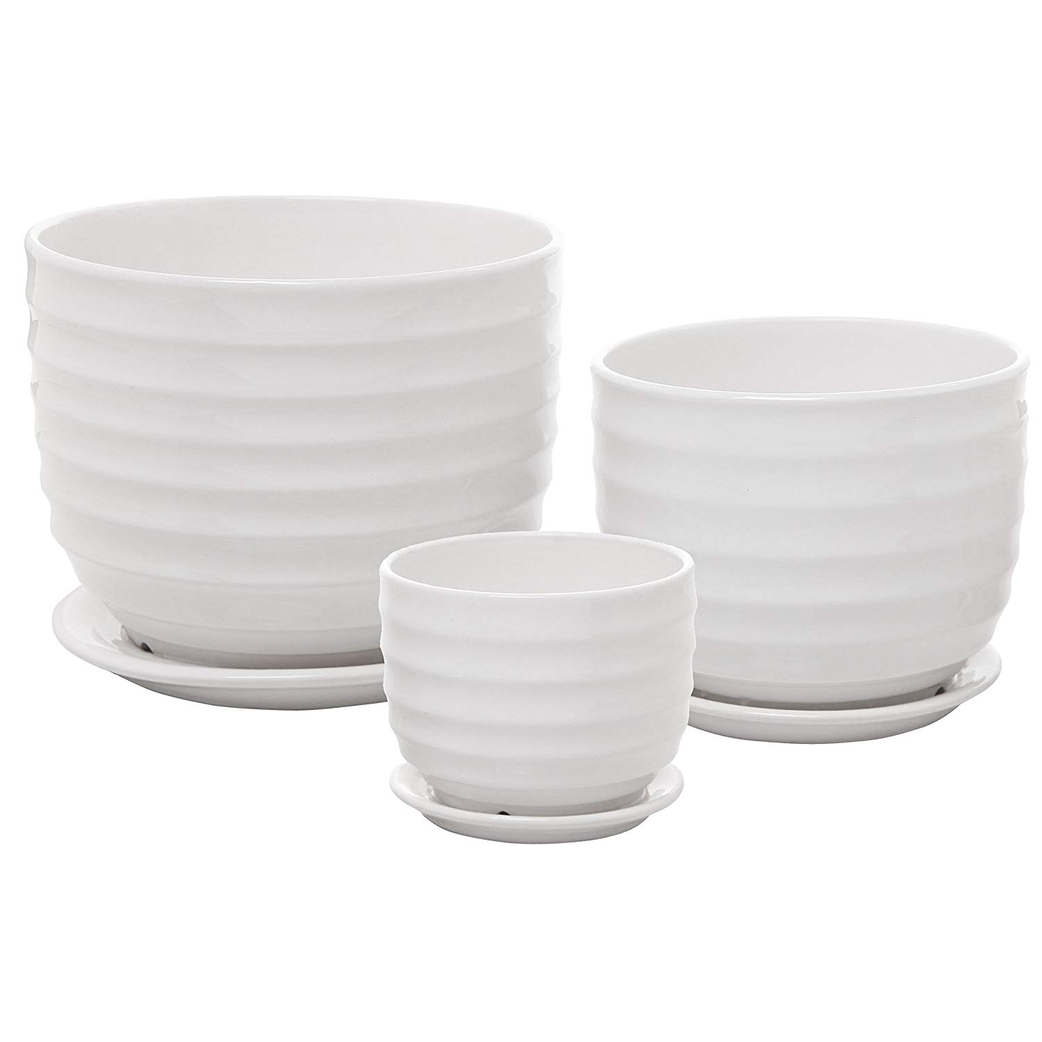 Ikea original unavailable; Inspiration: White Pots; set of 3