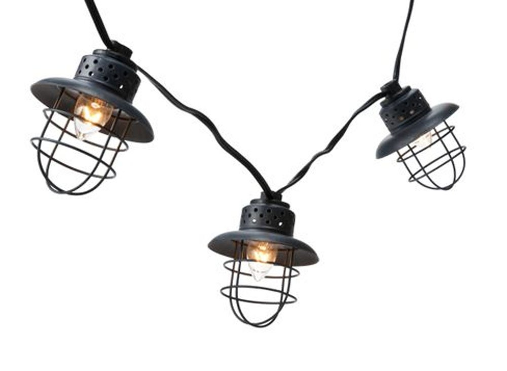 Smith & Hawken Indoor/Outdoor String Lights - 10 Count Caged Lamp