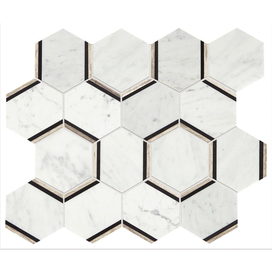 American Olean Honeycomb Marble Mosaic