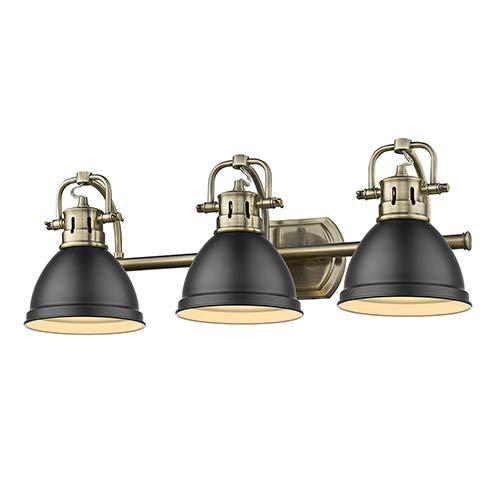 Three Light Bath Vanity Black