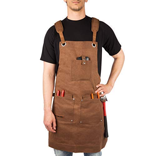 Wax Canvas Work Apron -