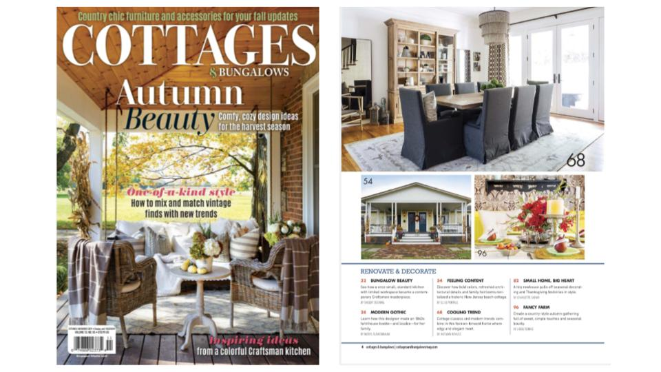 Content featured in Cottages & Bungalows magazine Oct/Nov 2019
