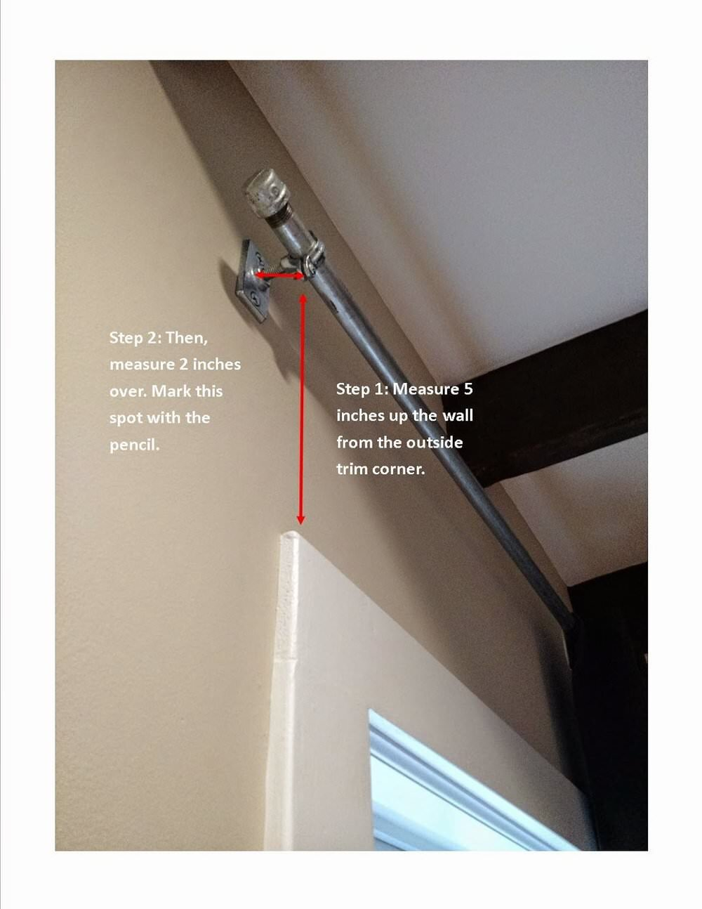 Industrial Extra Long Curtain Rods Diy Tutorial Content Co