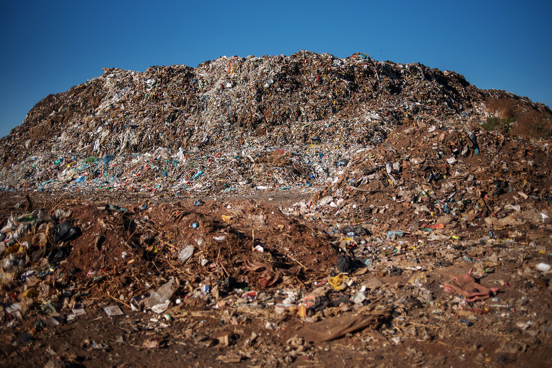 A garbage pile at the Palm Springs landfill in the outskirt of Johannesburg, South Africa, on June 28, 2019.