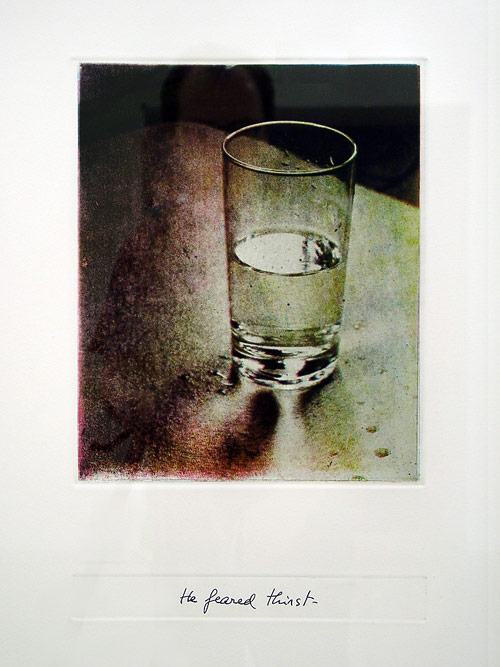 Luis Camnitzer,  He Feared Thirst, from the  Uruguayan Toruture Series, 1982