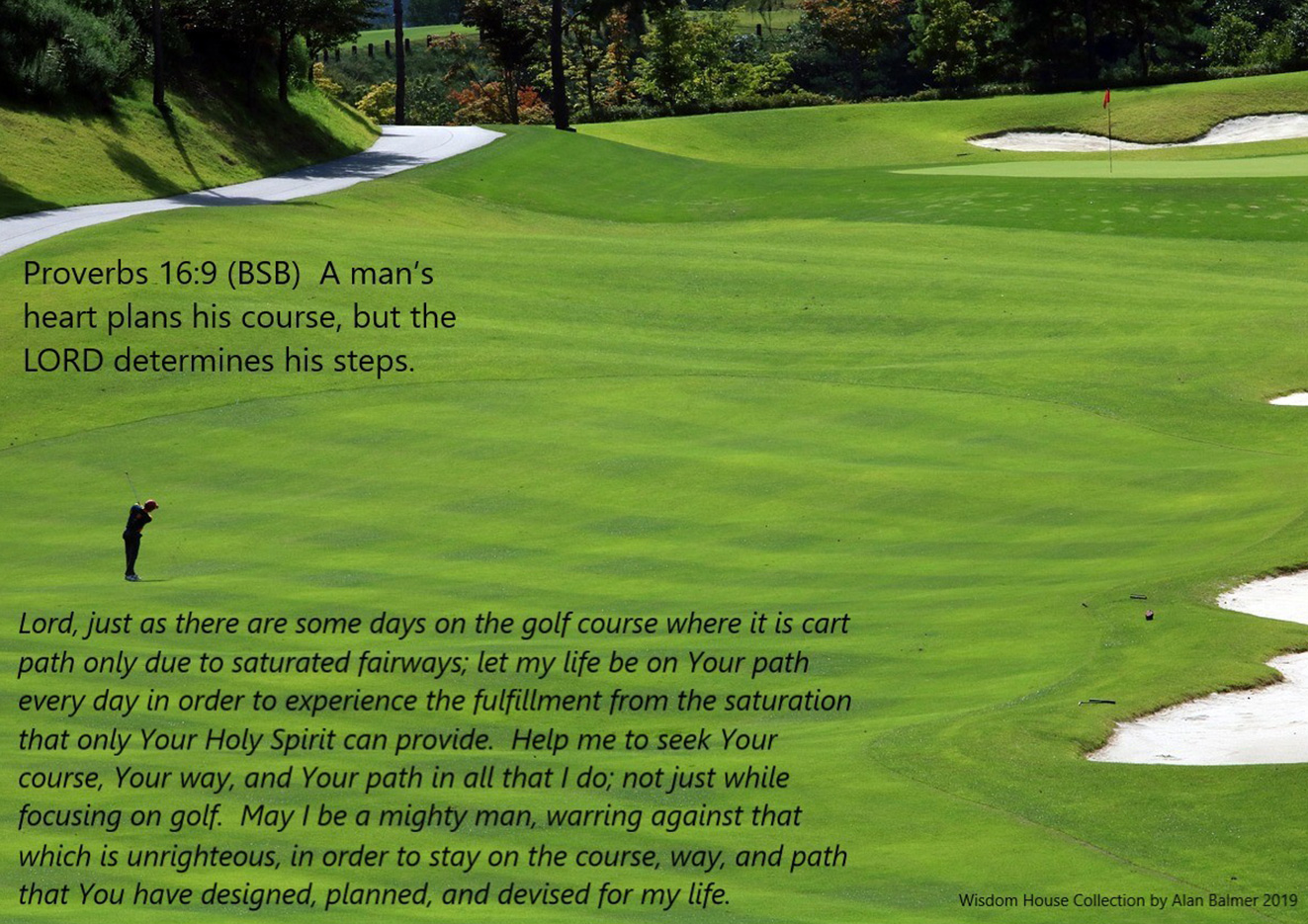 The Golfer's Prayer Based on Proverbs 16:9 -